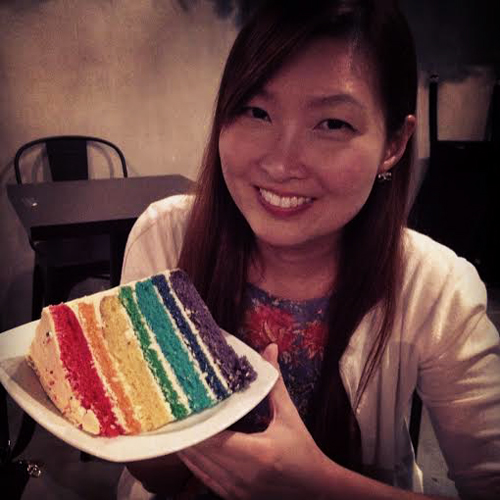 Rainbow cake... Too pretty to be eaten?